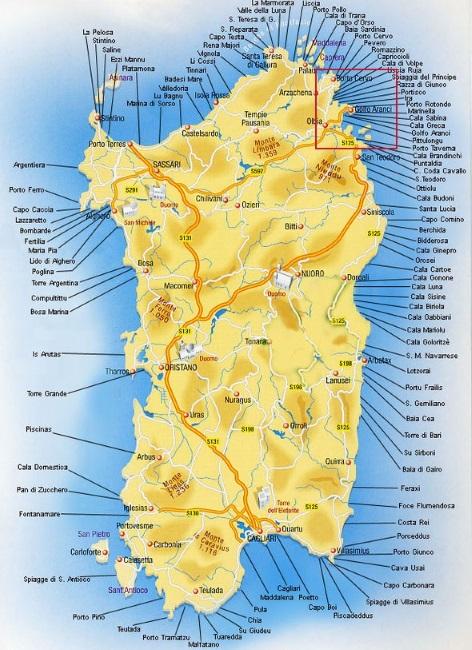 Cartina Sardegna Golfo Di Marinella.Le Spiagge E La Vita Notturna In Costa Smeralda In Sardegna